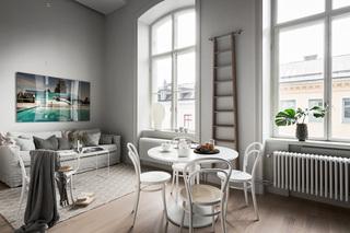 LOFT黑白灰公寓客餐厅装修效果图