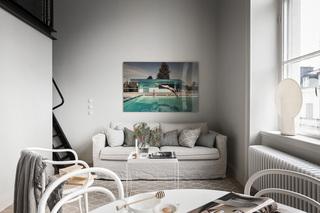 LOFT黑白灰公寓沙发背景墙装修效果图