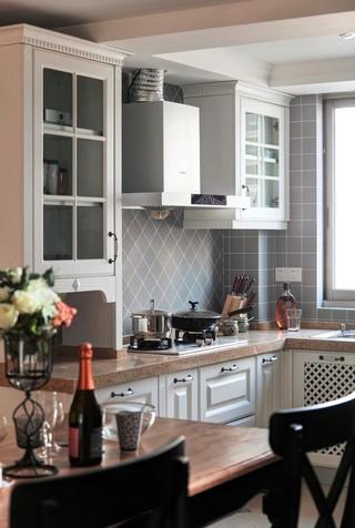 139㎡美式三居厨房装修效果图