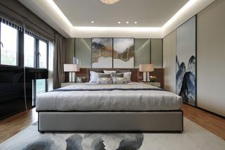 现代轻奢别墅卧室装修效果图