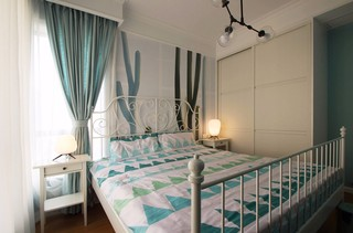 120平美式风格卧室装修搭配图