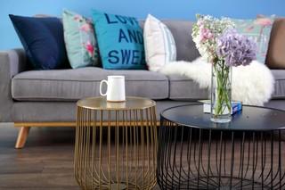 蓝调北欧风二居装修茶几设计图