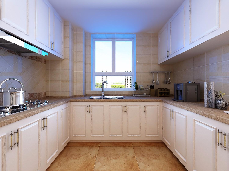 120平米美式风格厨房装修效果图