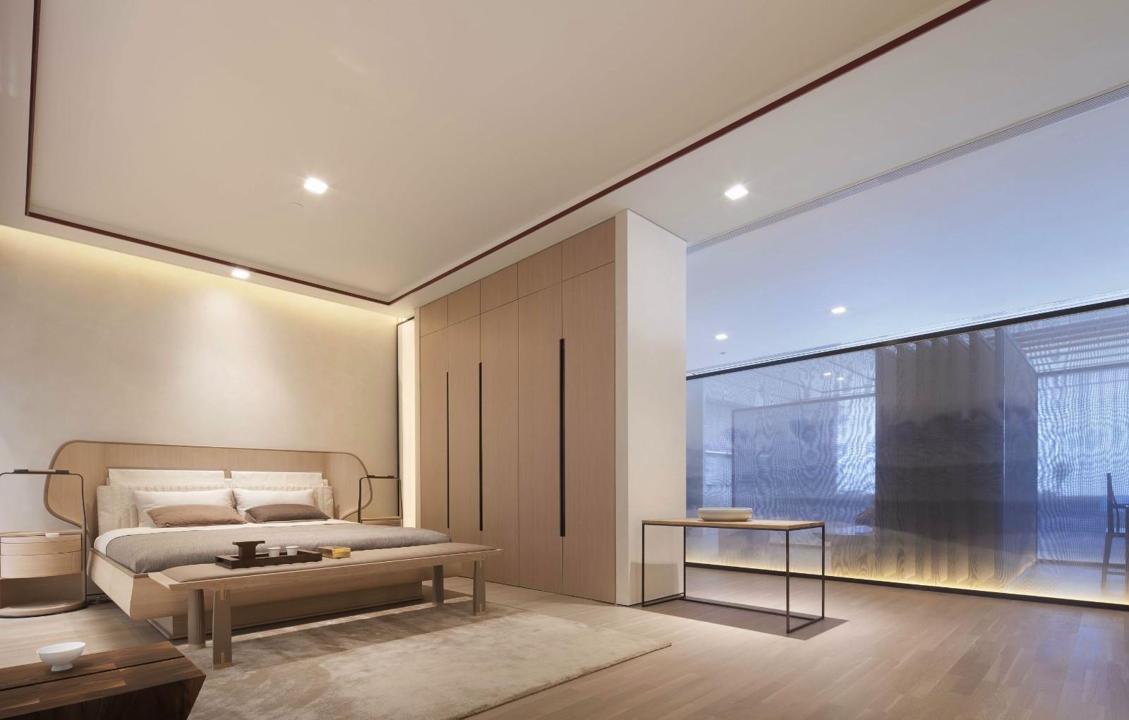 简约新中式风格卧室装修效果图