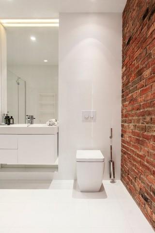 简约白色公寓洗手台装修效果图
