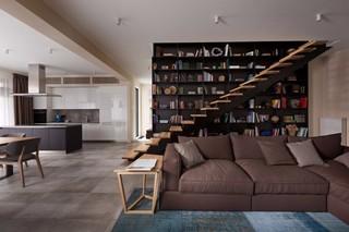 现代简约别墅沙发背景墙装修效果图
