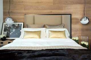 现代风格公寓卧室背景墙装修设计图