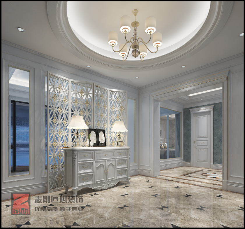 欧式别墅中庭装修设计效果图
