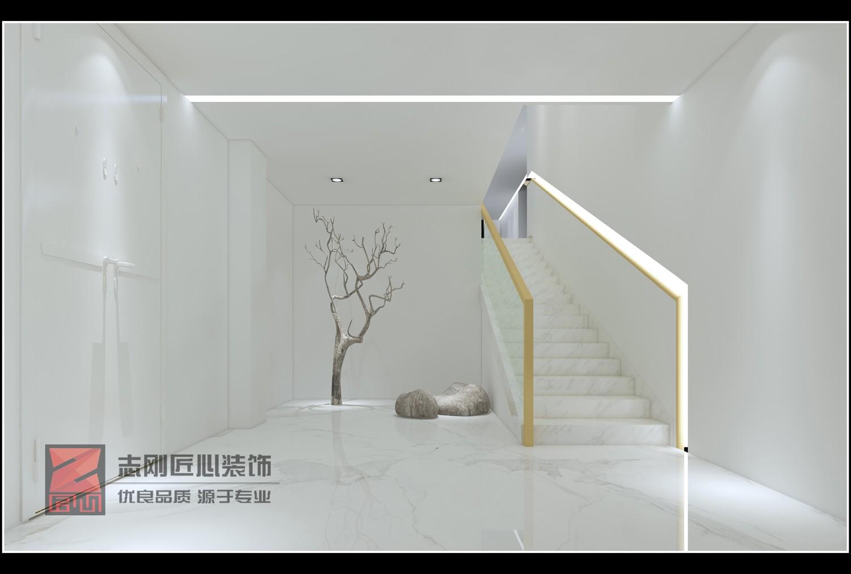 极简别墅楼梯装修效果图