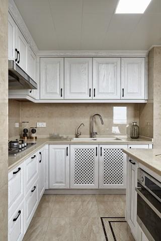 复古美式风格厨房装修效果图