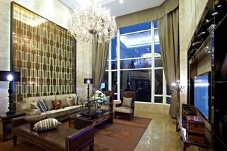 欧美风别墅客厅装修效果图