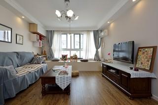 混搭风格两居室客厅装修设计图