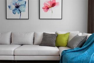 现代北欧风三居室装修沙发设计图