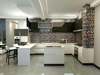 120㎡现代简约厨房装修效果图