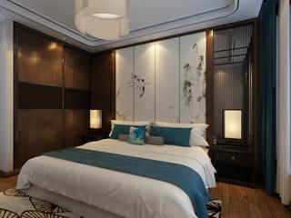 156平米新中式卧室装修效果图