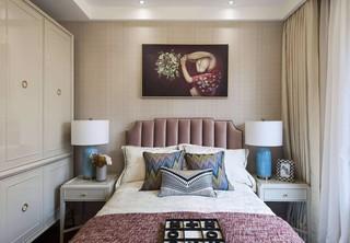 130㎡轻奢美式风格卧室背景墙装修效果图