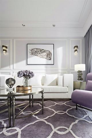 大户型混搭风格沙发背景墙装修设计图