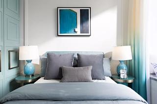 120平混搭三居卧室背景墙装修效果图