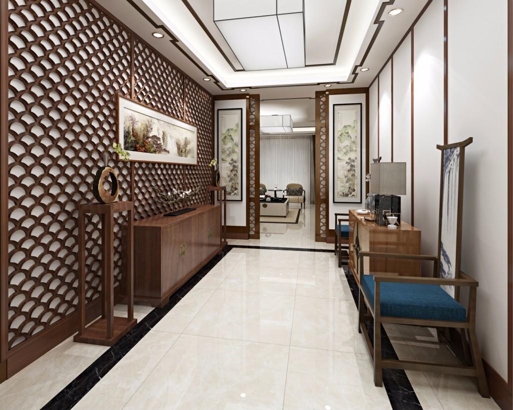 新中式公寓会客厅装修设计效果图