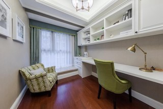 美式风格三房书房装修效果图