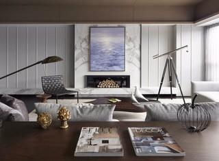 现代简约风格电视背景墙装修效果图
