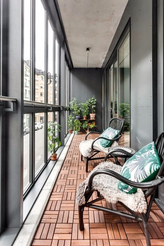 北欧风格公寓阳台装修效果图