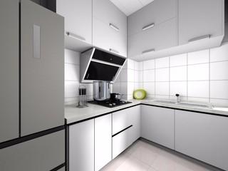 白色簡約廚房裝修效果圖