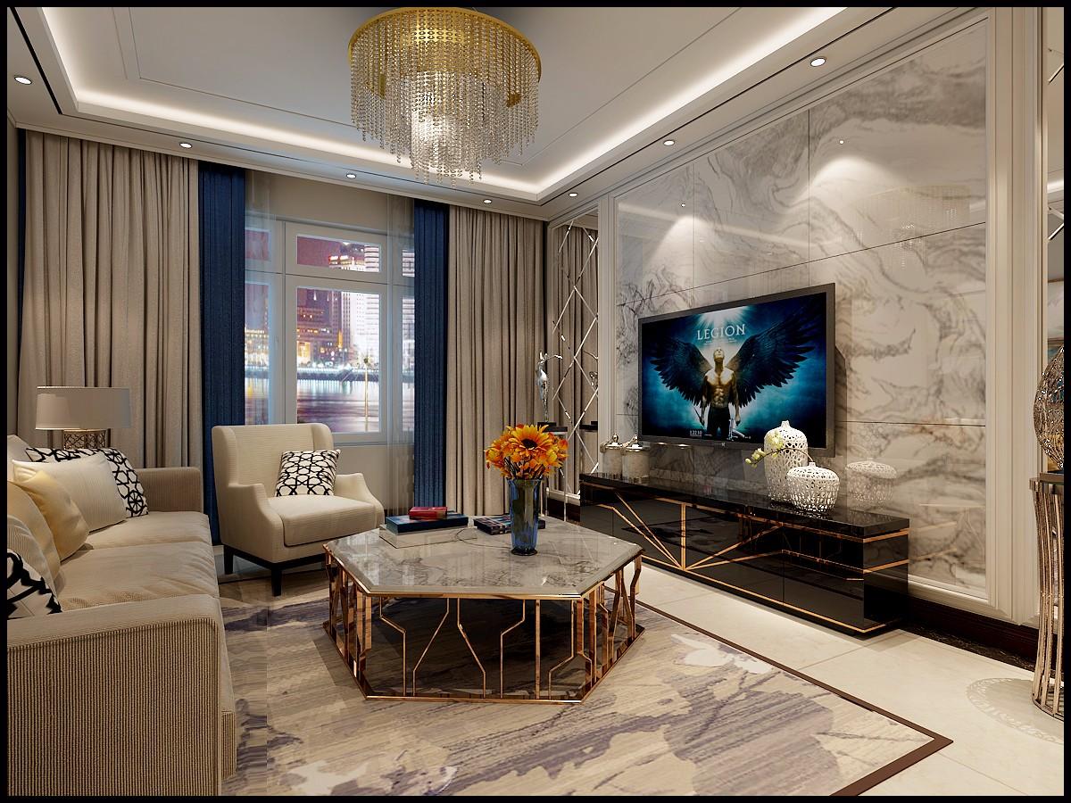 后现代两居室客厅装修效果图