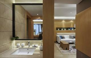 后现代风格三居装修洗手台设计图