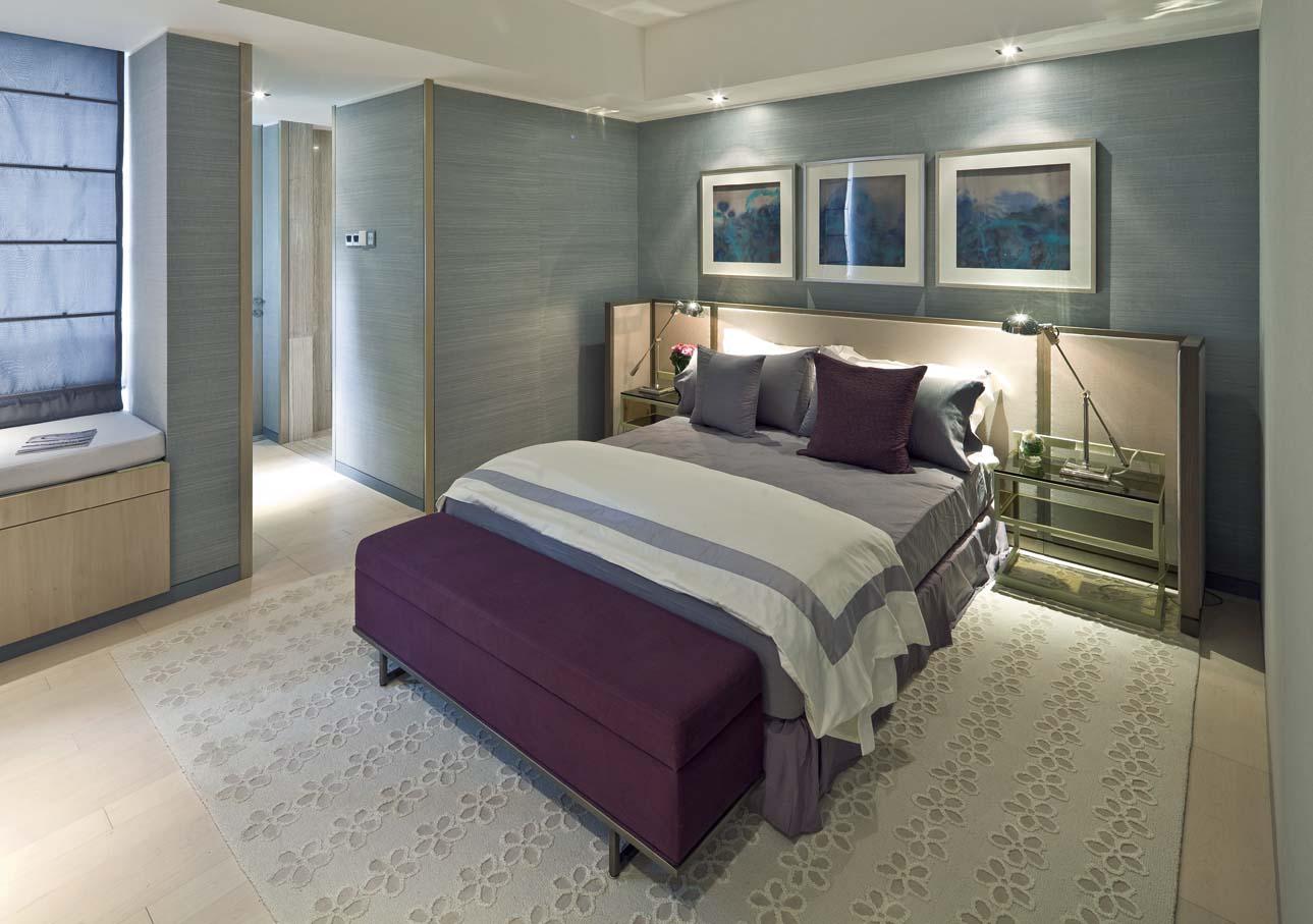 现代风格别墅卧室装修设计图