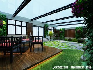 中式别墅阳光房装修设计效果图