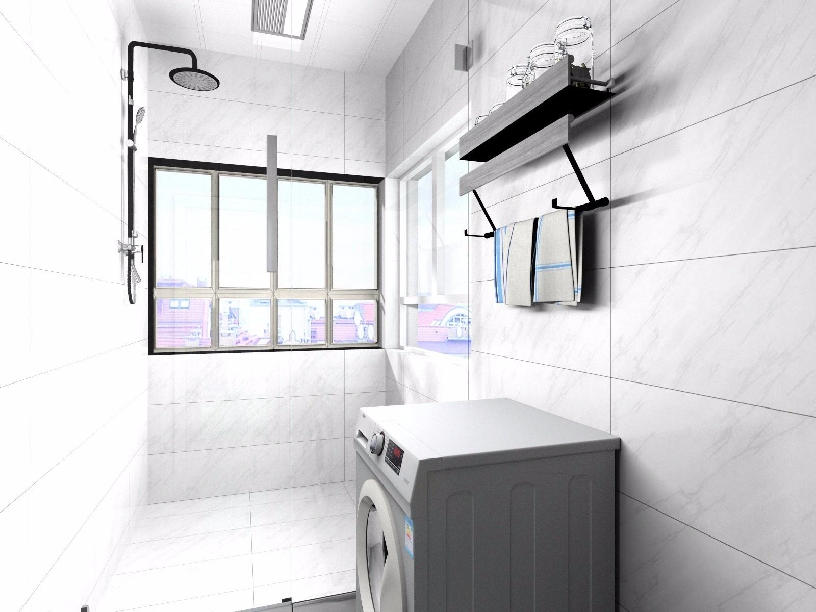 80平米两居室卫生间装修效果图