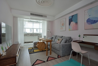 北欧风格小户型沙发背景墙装修效果图