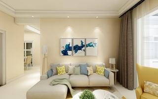 温馨简约三居室装修效果图