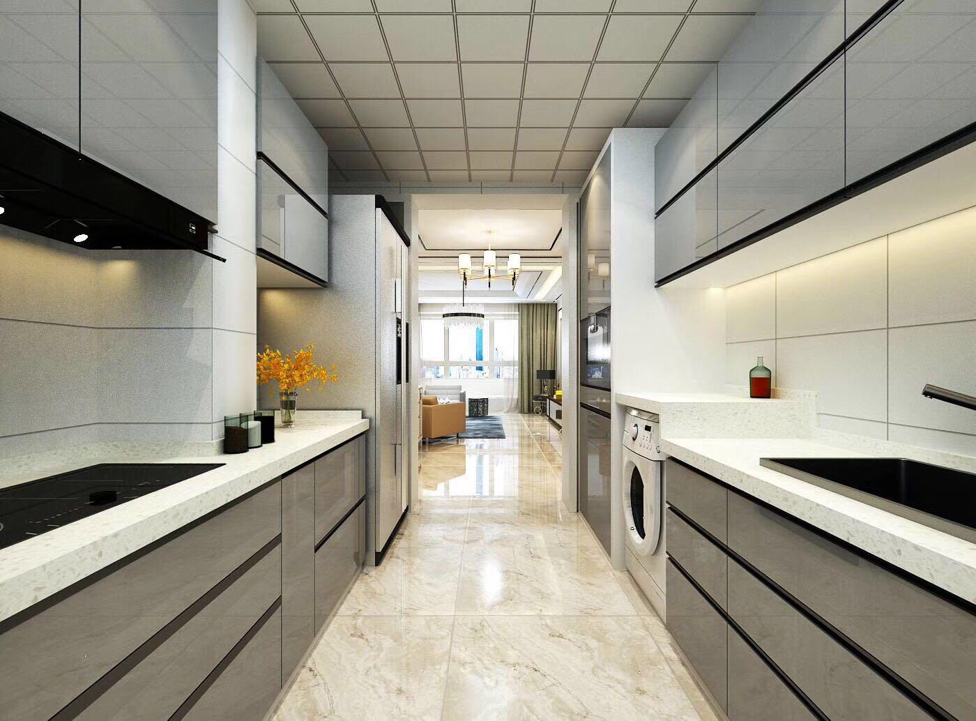 现代简约厨房装修设计效果图
