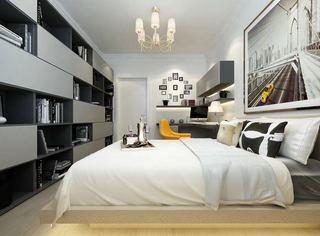 现代简约卧室装修设计图