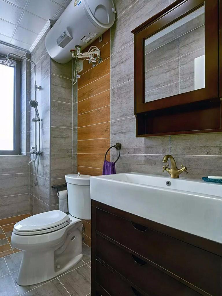 美式风格二居室15-20万110平米卫生间效果图