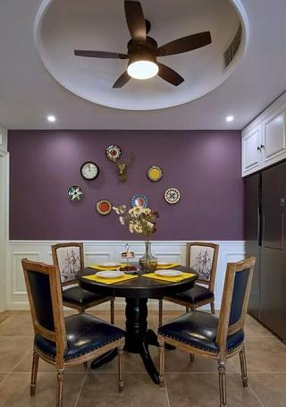 110㎡美式风格餐厅背景墙装修设计图