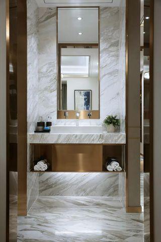 现代轻奢风卫生间洗手台装修效果图