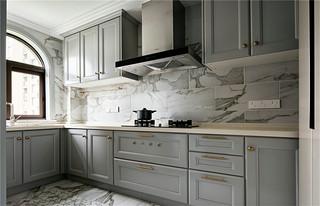 140平法式混搭厨房装修效果图