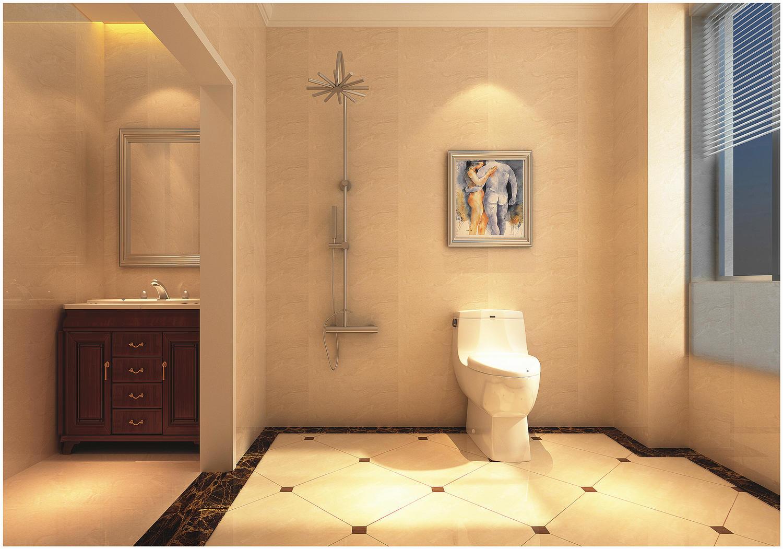 130平欧式风格卫生间装修效果图