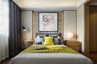 现代简约两居卧室背景墙装修效果图