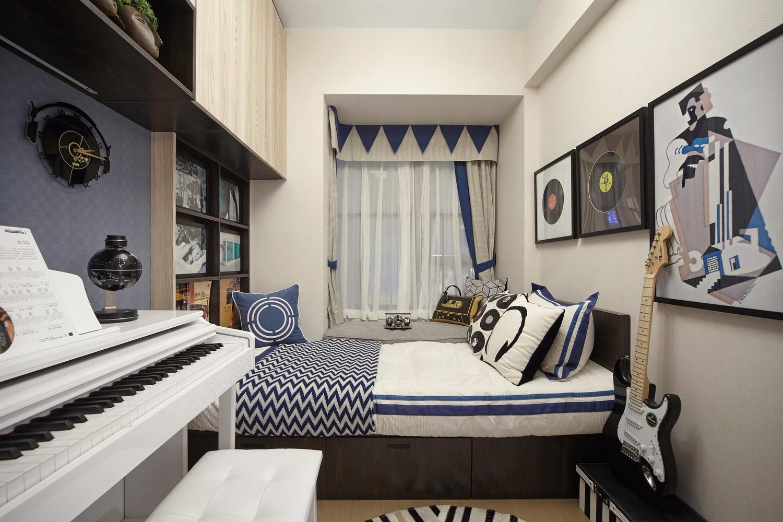 90平米三居榻榻米卧室装修效果图