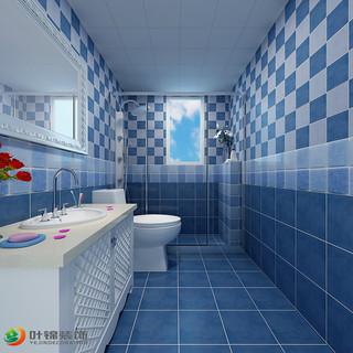 地中海三居室卫生间装修效果图