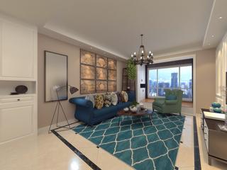 混搭風格兩居室客廳裝修效果圖