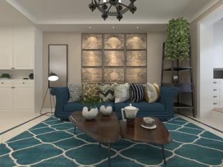混搭风格两居室沙发背景墙装修效果图