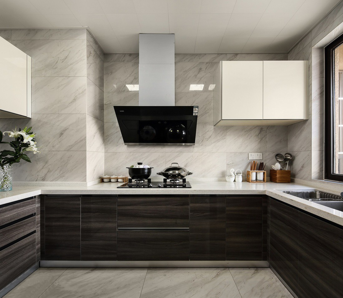 130㎡现代简约厨房装修设计图