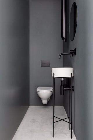 极简风灰色卫生间装修效果图