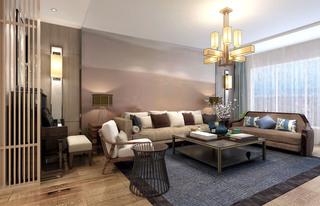 新中式风格装修客厅搭配图