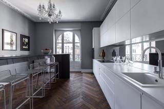 公寓开放式厨房装修效果图
